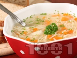 Лесна и икономична зеленчукова супа - снимка на рецептата